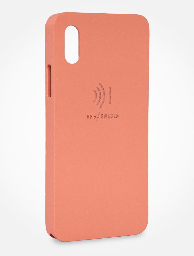 Strålningsskyddande mobilskal i roséfärgat aluminium till iPhone X och Xs från RP of Sweden