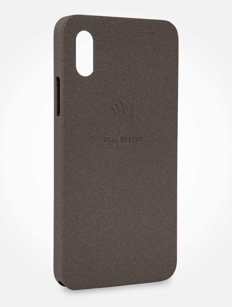 Strålningsskyddande mobilskal i grå aluminium till iPhone X och Xs från RP of Sweden
