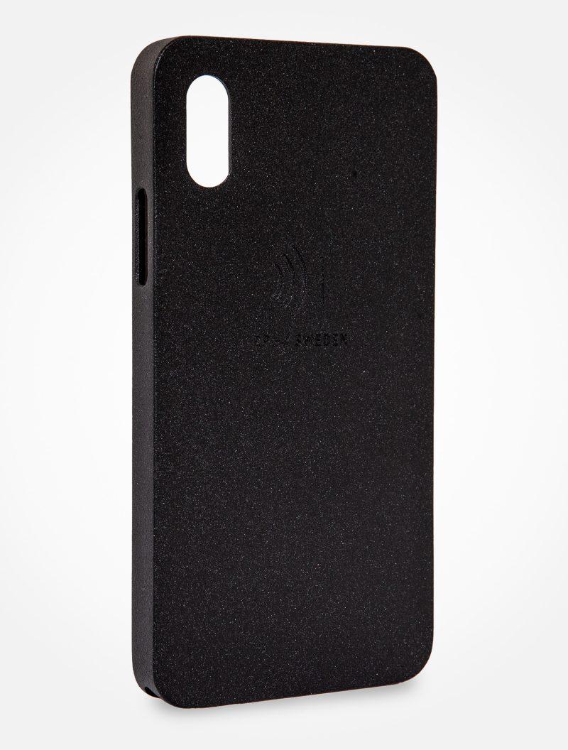 Strålningsskyddande mobilskal i svart aluminium till iPhone X och Xs från RP of Sweden