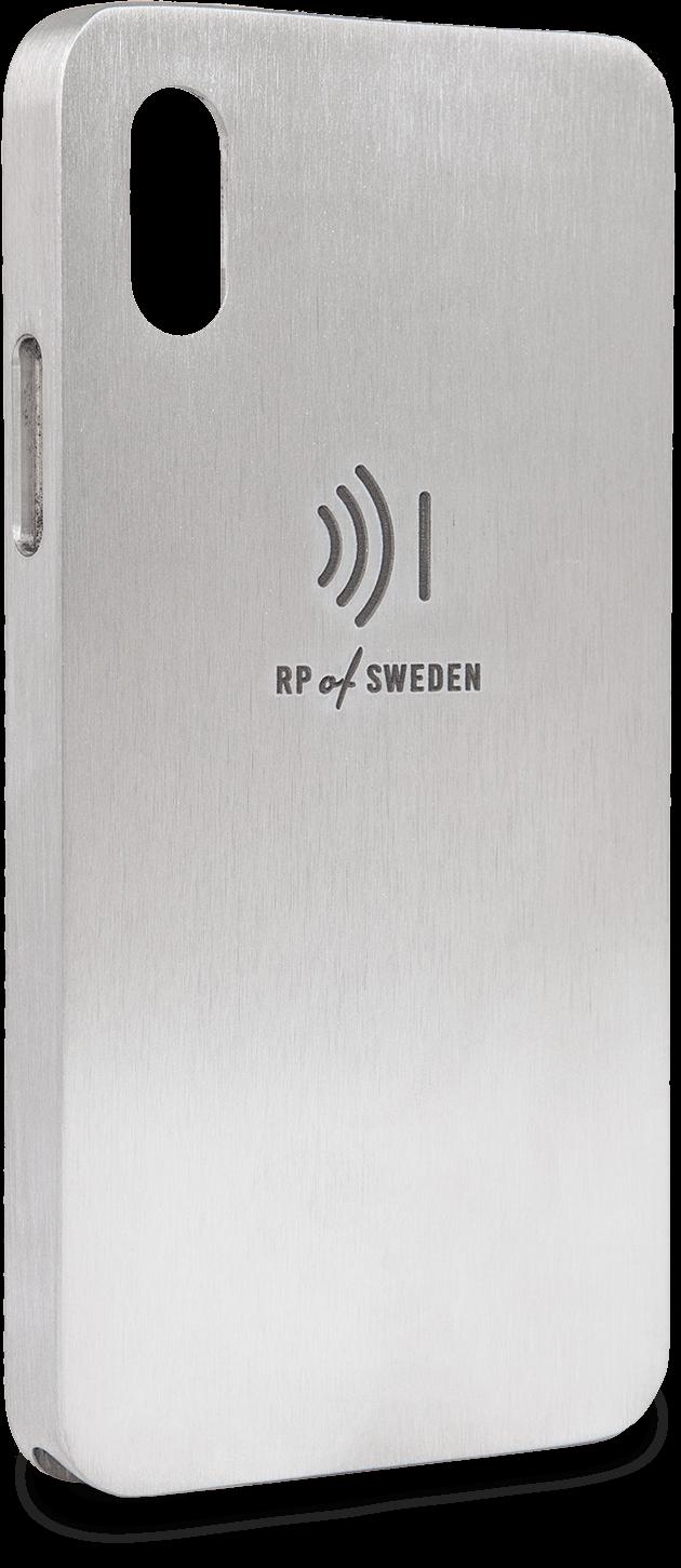 Starålningsskyddande mobilskal i rent aluminium till iPhone X och Xs från RP of Sweden