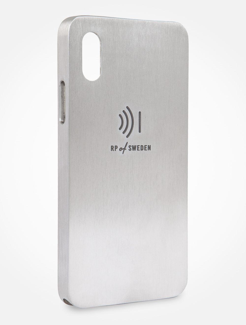 Strålningsskyddande mobilskal, pure aluminium, från RP of Sweden